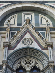 Building exterior of a Catholic cathedral, Cattedrale di Santa Maria del Fiore, Italy
