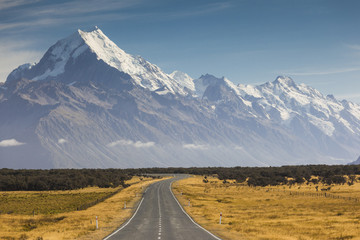Highway 80, Mt Cook National Park, Canterbury, South Island, New Zealand