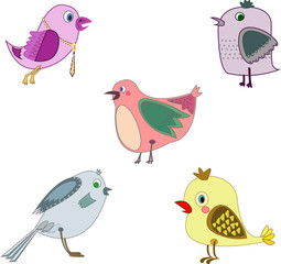 birds cartoon drawing fly