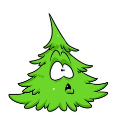 Green tree wonder cartoon illustration isolated image character