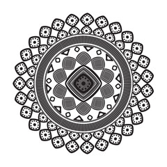 mandala ethnic culture icon vector illustration design