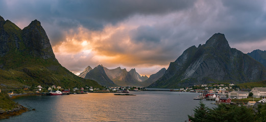 Lofoten Evening Atmosphere, Reine, Norway