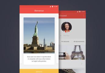 Kit d'interface utilisateur pour application de voyage