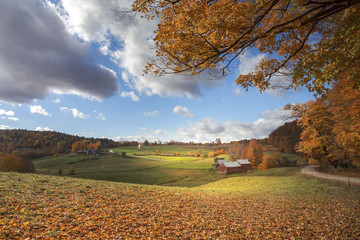 Jenne farm and the countryside of Woodstock, Vermont, New England