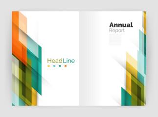 Modern line design, motion concept. Business annual report brochure templates