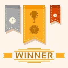 Winner Competition Award Ribbon Vector Illustration