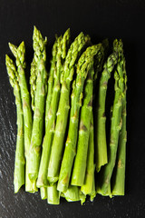 Blanched green asparagus
