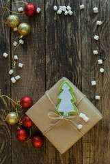 Christmas Background. Gifts. Vertical.