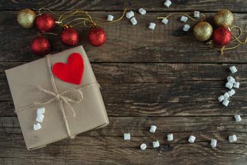 Christmas Background. Gifts. Horizontal.