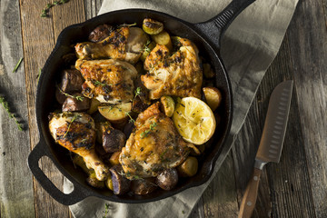 Homemade Baked Chicken in a Skillet