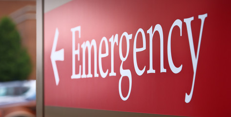 Hospital emergency sign