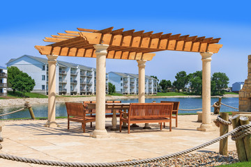 Pergola and outdoor patio