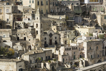 View of the Sasso Barisano, Sassi di Matera, Basilicata, Italy
