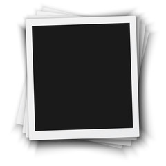 Illustration of Vector Photo Frame Mockup Isolated on a White Background