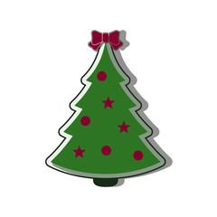 Christmas tree Icon flat vector new year