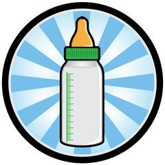 Illustration of a baby milk bottle