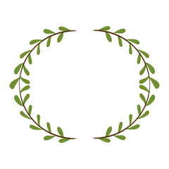Leaves icon. Plant floral nature and decoration theme. Isolated design. Vector illustration
