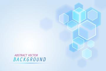 Abstract of tech innovation hexagon design