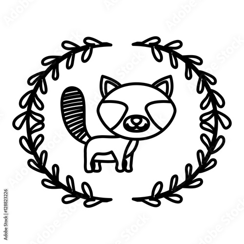 Cartoon Raccoon Den