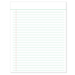 Sheet of Lined Paper  with paper clip template