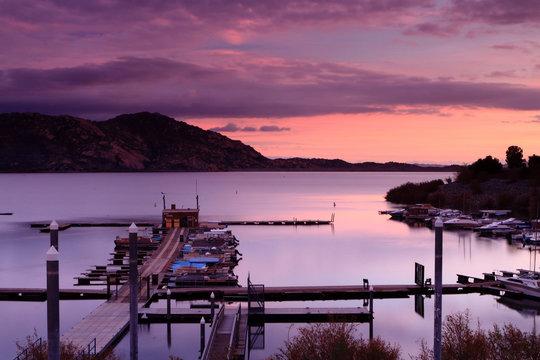 Sunset at Lake Perris