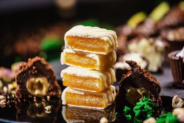 Autocollant pour porte Confiserie chocolate sweets