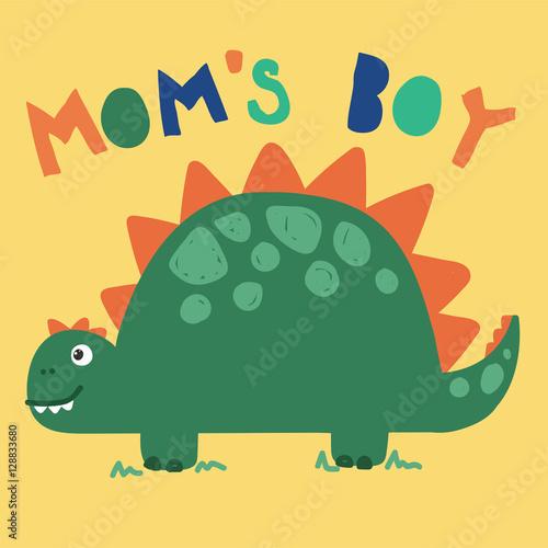 cool cartoon dinosaur vector, illustration