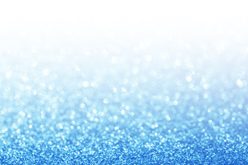 Abstract glitter blue background