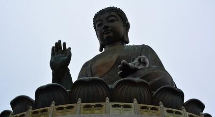 skyscraper, buddha, cable car.