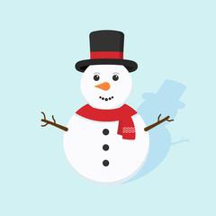 Snowman icon. vector.