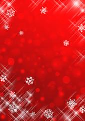 雪の結晶背景 赤