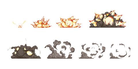 Explosion Animation Icons Set