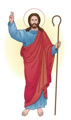 jesus christ with staff