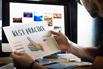 Best Practice Thumbs Up Approval Concept