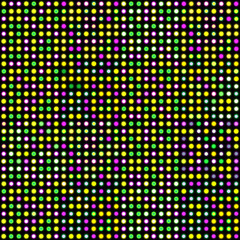 led lights mardi gras colors. vector for animation