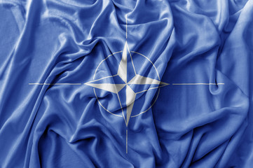 Ruffled waving Nato flag