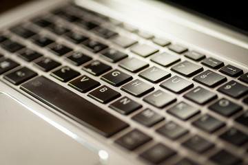 Laptop keyboard detail