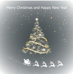 Merry Christmas! Christmas background. Happy Christmas companions.. Vector illustration.