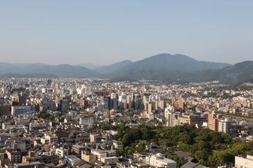 Kyoto cityscape in Kansai, Japan