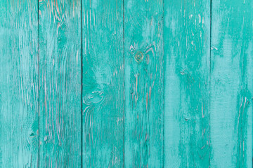 Vintage blue wood background with peeling paint