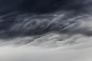 lenticular and storm cloud close-up