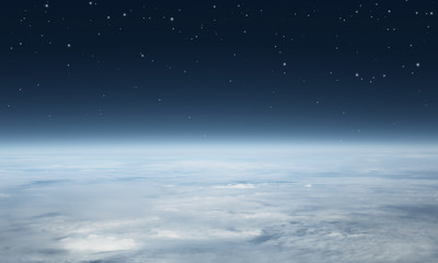 Planet earth seen from above with copy space