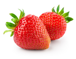 Strawberry isolated on white background. With clipping path.