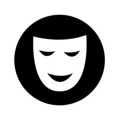 theatrical masks icon illustration design