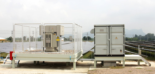 Solarfarm Inverter Cabinet and Transformer Yard