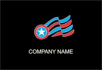 American Flag house logo