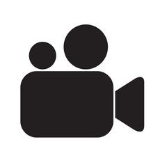 video camera icon illustration design