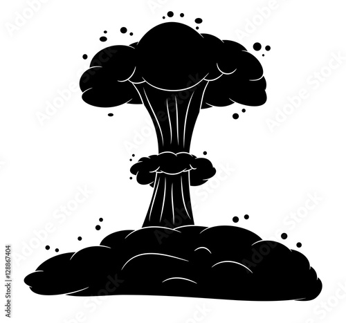 """mushroom cloud, nuclear explosion silhouette, vector symbol ico"" Stock image and royalty-free ..."