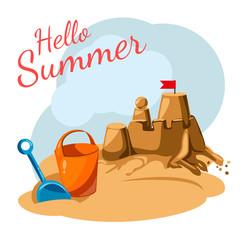 greeting card Summer