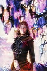 Fantasy elf girl painted